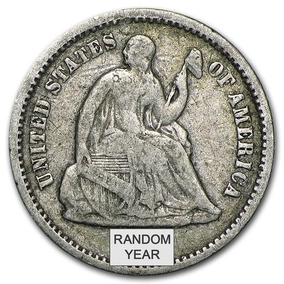 1837-1873 Liberty Seated Half Dimes Avg Circ