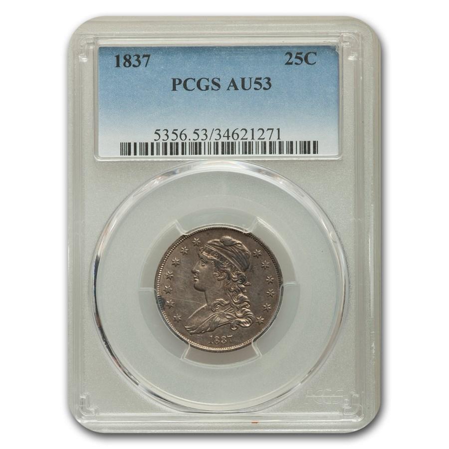 1837 Capped Bust Quarter AU-53 PCGS