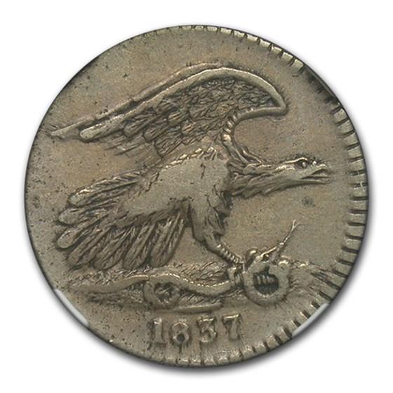 1837 Feuchtwanger One Cent Hard Times Token XF-40 NGC (HT-268)