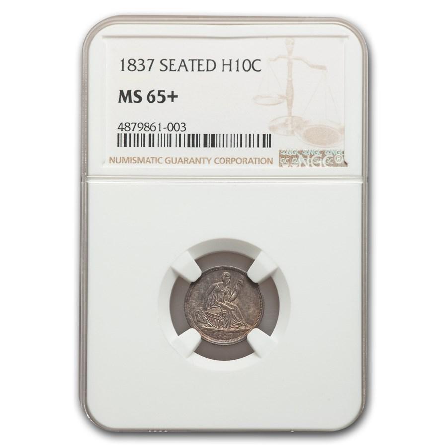 1837 Liberty Seated Half Dime MS-65+ NGC