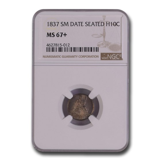 1837 Liberty Seated Half Dime MS-67+ NGC (Small Date)