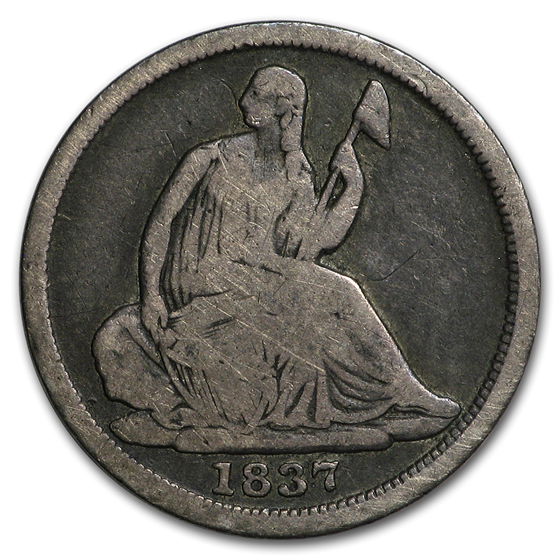 1837 Liberty Seated Half Dime Small Date VG