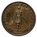 1837 Quebec Half Penny Token XF (Quebec Bank on ribbon)