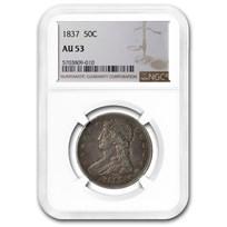 1837 Reeded Edge Half Dollar AU-53 NGC