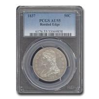 1837 Reeded Edge Half Dollar AU-55 PCGS