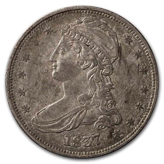 1837 Reeded Edge Half Dollar AU