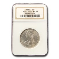 1837 Reeded Edge Half Dollar MS-63 NGC