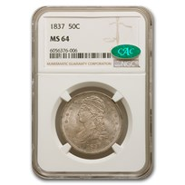 1837 Reeded Edge Half Dollar MS-64 NGC CAC
