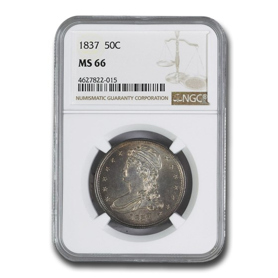 1837 Reeded Edge Half Dollar MS-66 NGC