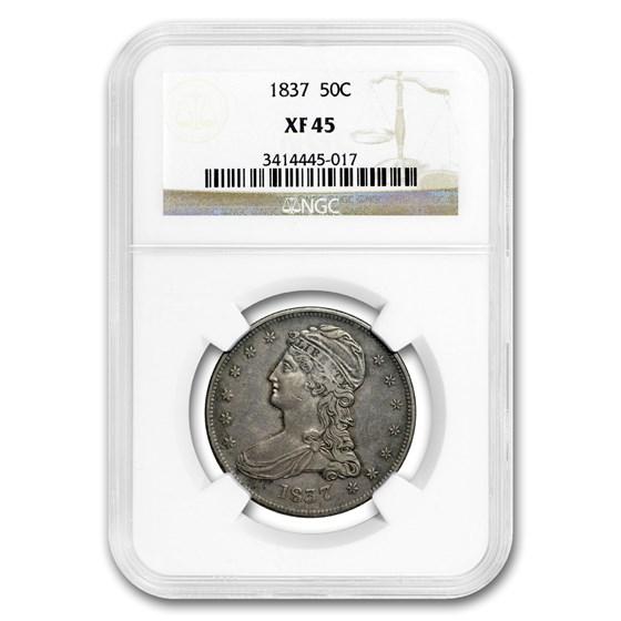 1837 Reeded Edge Half Dollar XF-45 NGC