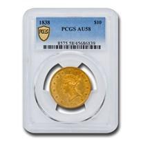 1838 $10 Liberty Gold Eagle AU-58 NGC