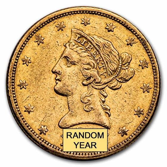 1838-1866 $10 Liberty Gold Eagle No Motto XF
