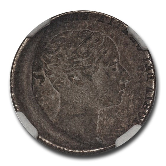 (1838-1887) Great Britain Silver Six Pence MS-62 NGC Mint Error
