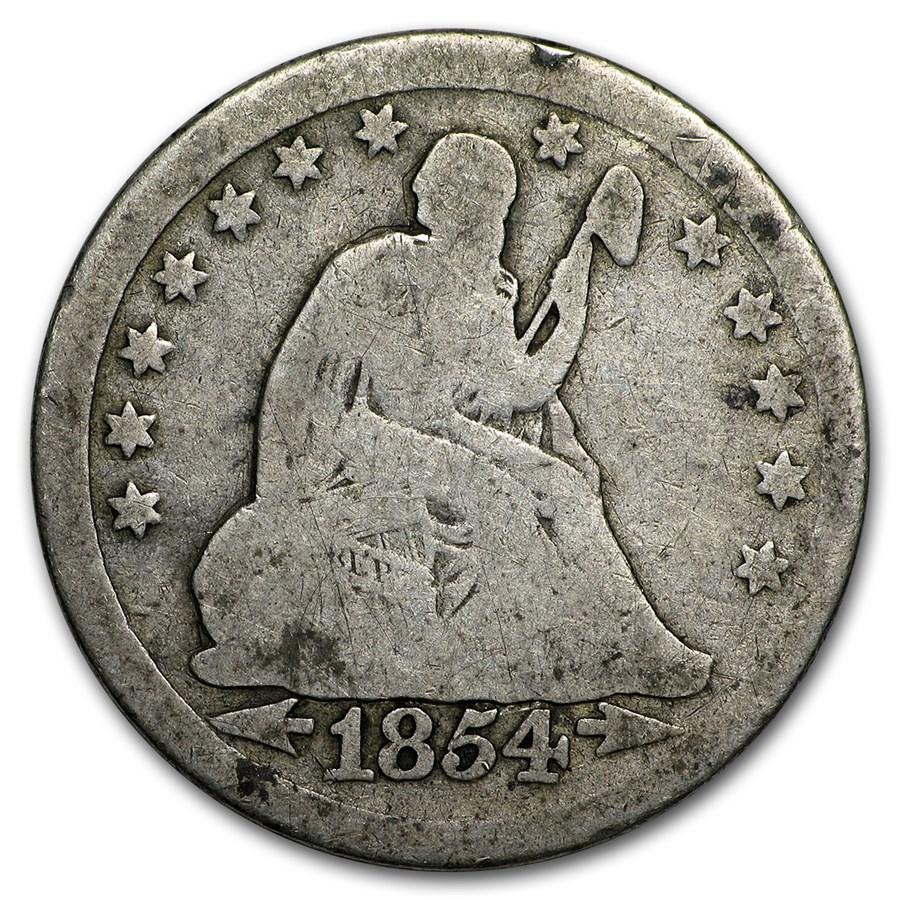 1838-1891 Liberty Seated Quarter Avg Circ