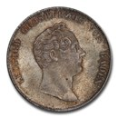 1838 German States Baden Leopold I AR Gulden MS-65+ PCGS
