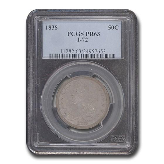 1838 Half Dollar Pattern PR-63 PCGS (J-72)