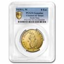1838-L M North Peru Gold 8 Escudos AU-Details PCGS