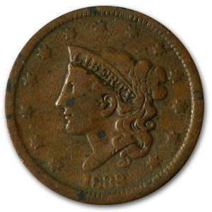 1838 Large Cent Good