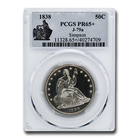 1838 Pattern Half Dollar PR-65+ PCGS (J-79a)