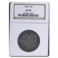 1838 Reeded Edge Half Dollar AU-50 NGC