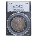 1838 Reeded Edge Half Dollar MS-63 PCGS