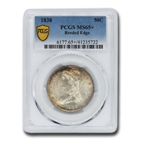1838 Reeded Edge Half Dollar MS-65+ PCGS