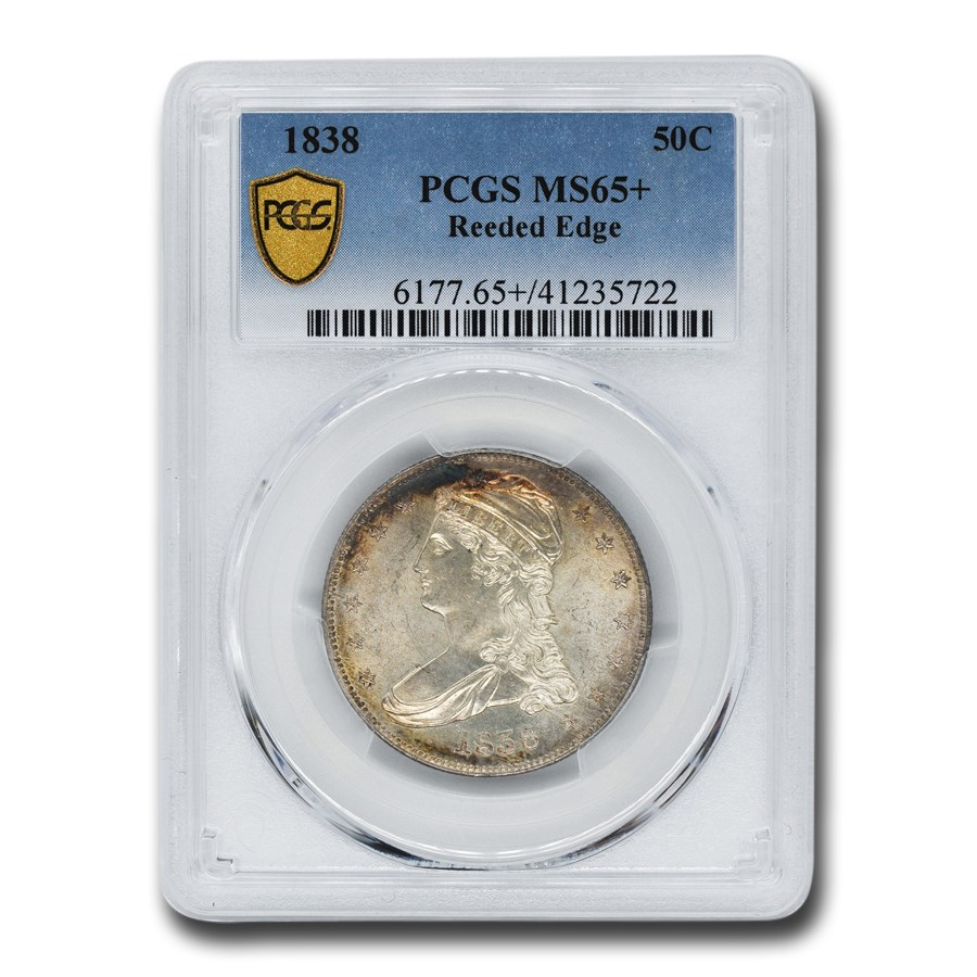 1838 Reeded Edge Half Dollar MS-65+ PCGS