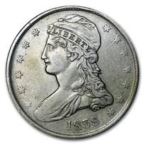 1838 Reeded Edge Half Dollar XF
