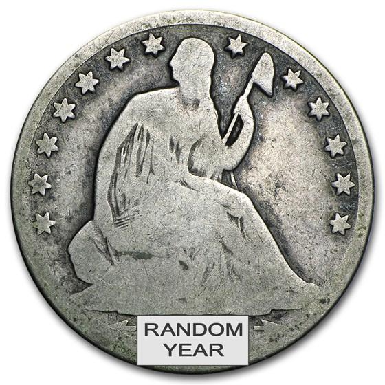 1839-1891 Liberty Seated Half Dollars Avg Circ