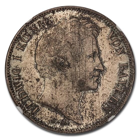 1839 German States Bavaria AR 3-1/2 Gulden Ludwig I MS-65 NGC