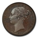 1839 Great Britain Copper Farthing PR-64 PCGS (Brown)