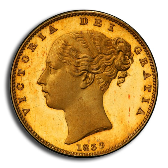 1839 Great Britain Gold Sovereign Victoria PR-64DCAM PCGS