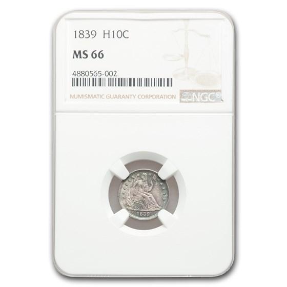 1839 Liberty Seated Half Dime MS-66 NGC