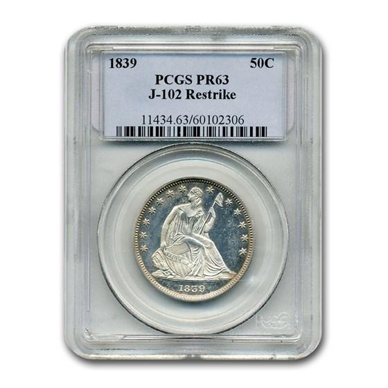 1839 Liberty Seated Half Dollar Pattern PR-63 PCGS (J-102 Res.)
