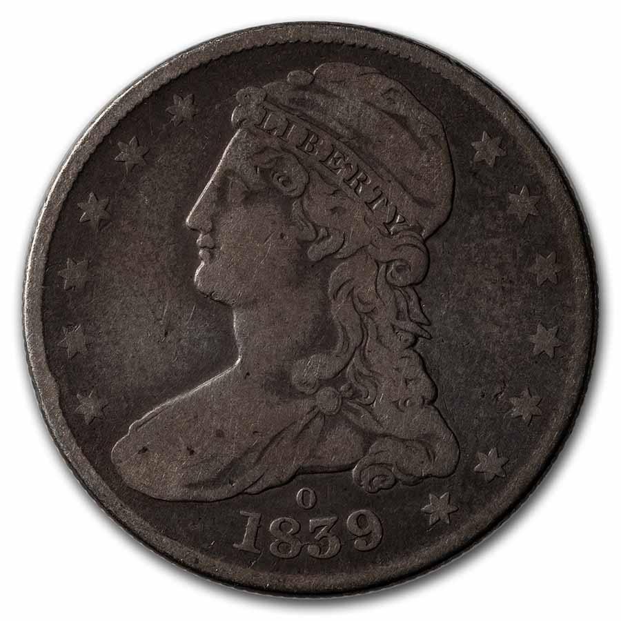 1839-O Reeded Edge Half Dollar Fine