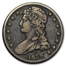 1839-O Reeded Edge Half Dollar VF