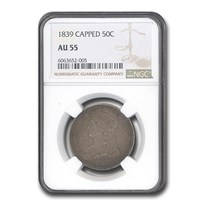 1839 Reeded Edge Half Dollar AU-55 NGC