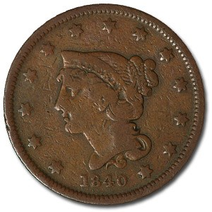 1840 Large Cent Sm Date Fine