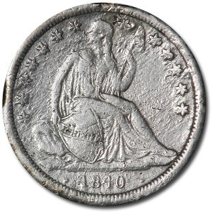 1840 Liberty Seated Dime XF Details (Polished)