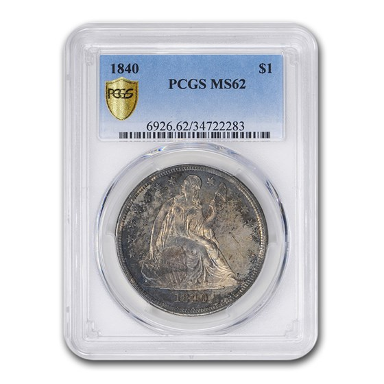 1840 Liberty Seated Dollar MS-62 PCGS