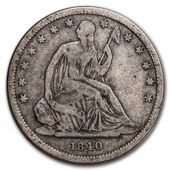1840 Liberty Seated Half Dollar Fine Small Letters (Rev of 1839)
