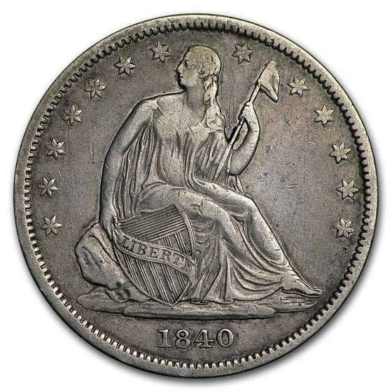 1840 Liberty Seated Half Dollar XF Small Letters (Rev of 1839)