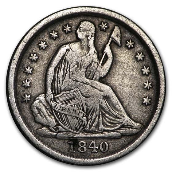 1840-O Liberty Seated Dime VF