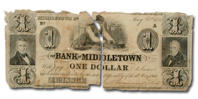 1841 Bank of Middletown, PA, $1 PA-300 VG details