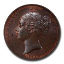 1841 Great Britain Copper Penny Victoria MS-63 PCGS (Red/Brown)
