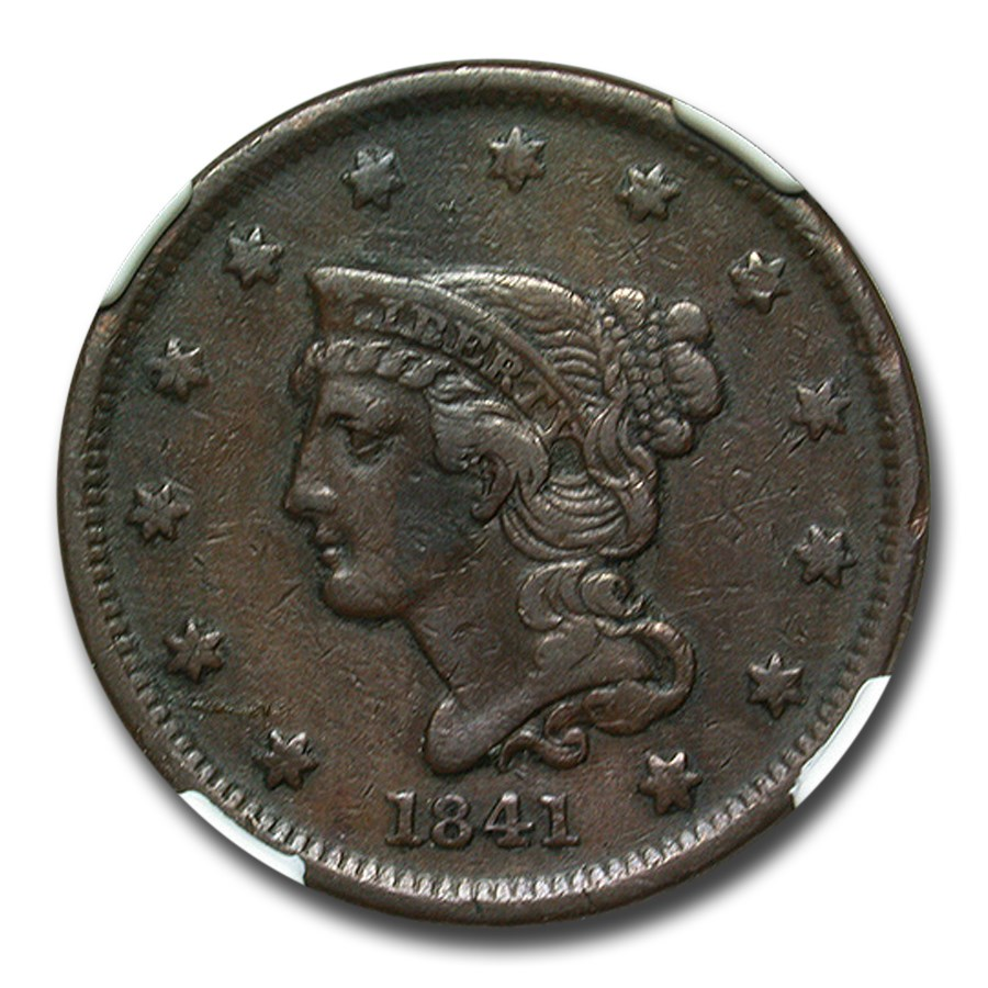 1841 Large Cent XF-40 NGC