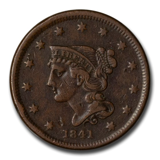 1841 Large Cent XF