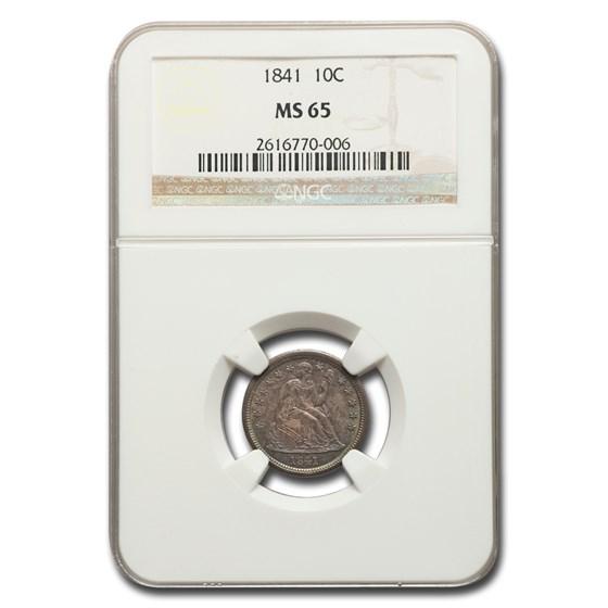 1841 Liberty Seated Dime MS-65 NGC