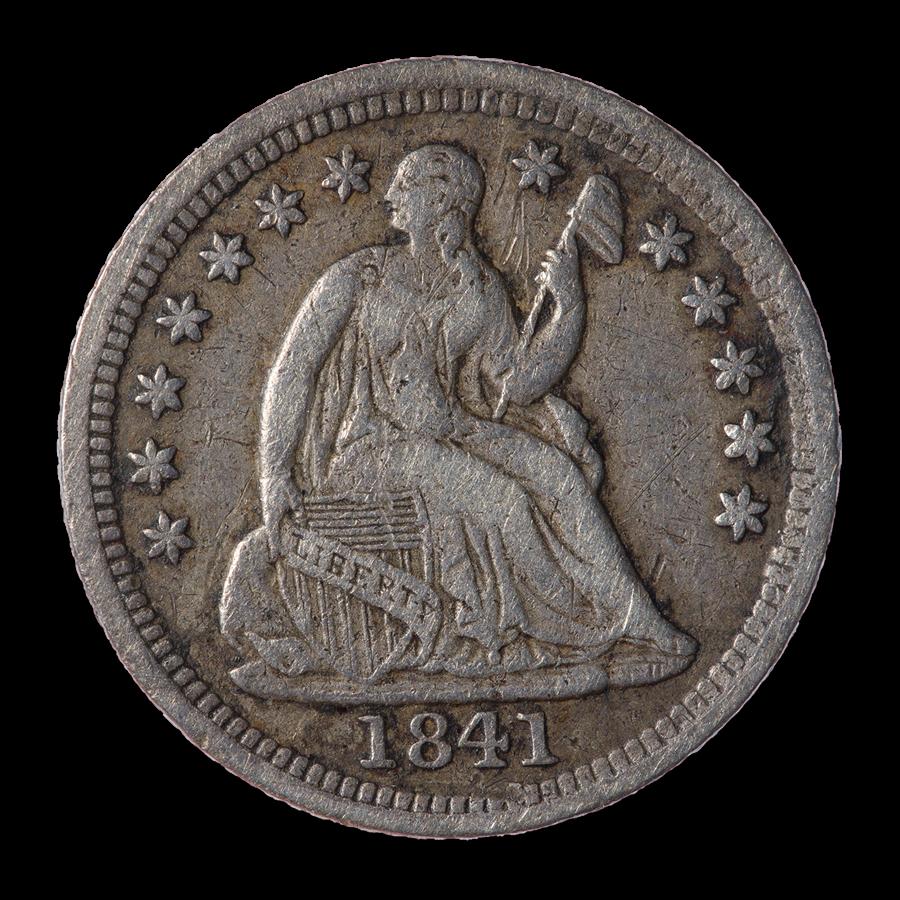 1841 Liberty Seated Half Dime XF