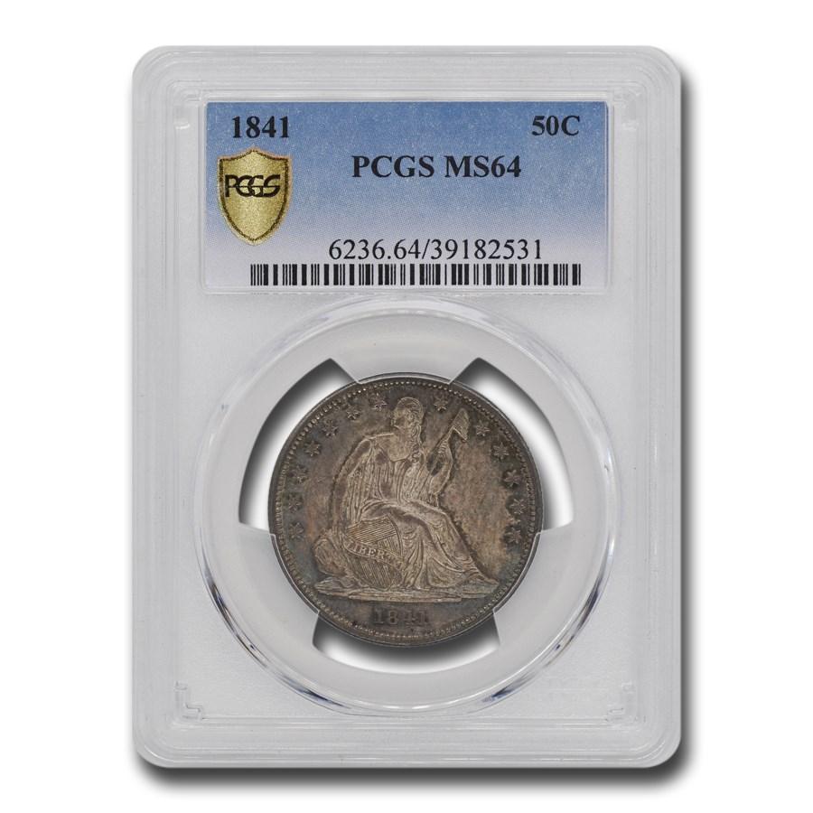 1841 Liberty Seated Half Dollar MS-64 PCGS